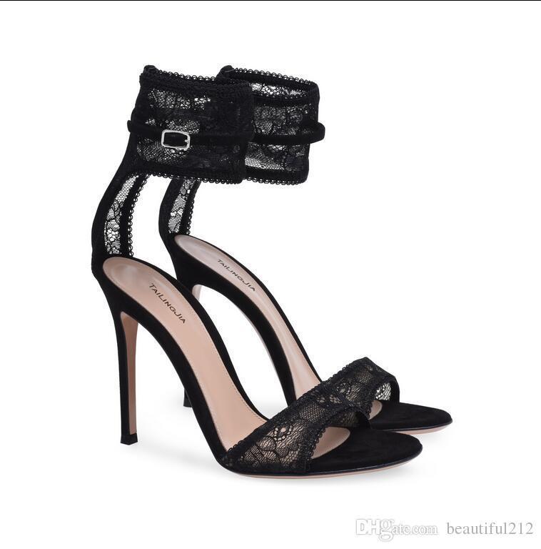 cd63703e5 Compre Negro Oro Sexy Tacones Altos Sandalias De Tacón Alto Ocasiones  Formales OL Baile Moda Zapatos De Mujer A  59.62 Del Qr10086