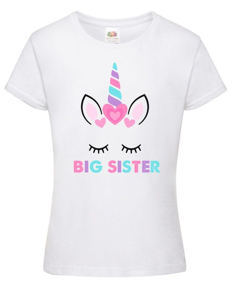 80ef17245c51 Big Sister Unicorn Girls T Shirt Printed Pregnancy Reveal Party Gift Top  Pink It Tee Shirts As T Shirt From Designtshirts201806