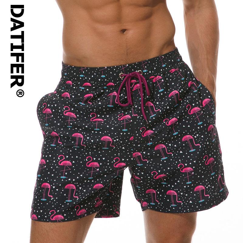 Datifer Men's Sports Short Beach Shorts Bermuda Board Shorts Surfing Swimming Boxer Trunks Bathing Suits Swimwear Swimsuits C19040801