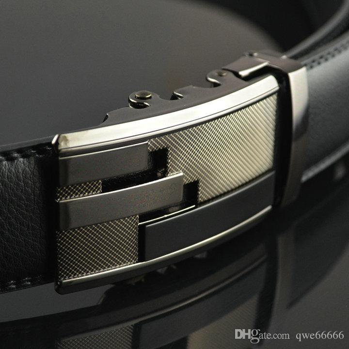 Luxury belt Best quality designer brand name fashion Men's Business Waist Belts Automatic buckle Genuine Leather belts For Men 105-130cm