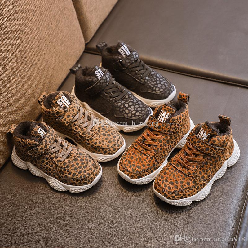 2e079dce96a7f Acheter Enfants Imprimé Léopard Chaussures Pour Enfants Casual 3 Couleur  Chaussures De Mode Automne Et D hiver Bébé Garçons Filles Sneakers C5648 De   12.13 ...