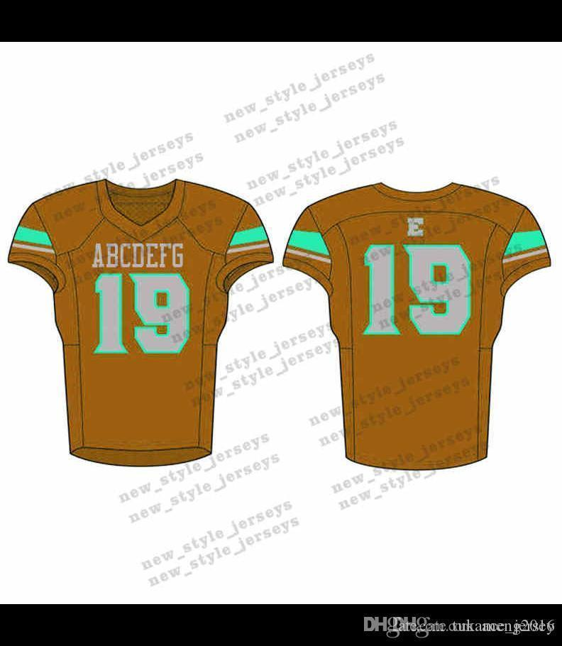9Men 2019 Youth Football Jerseys Army Green Wine Red Embroidery Logos Stitched Custom Any name Any number Jerseys