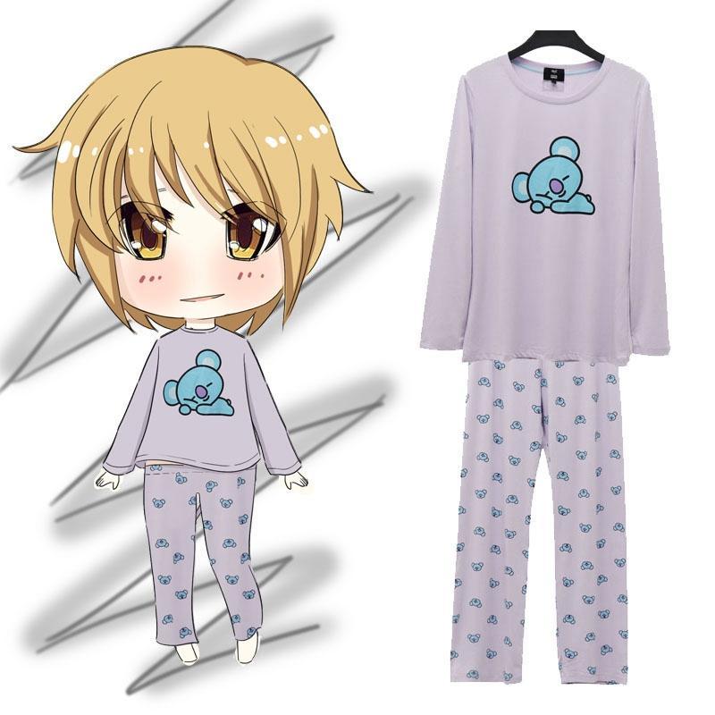 купить оптом Bt21 Bts Kawaii мультфильм хлопок пижамы наборы K поп