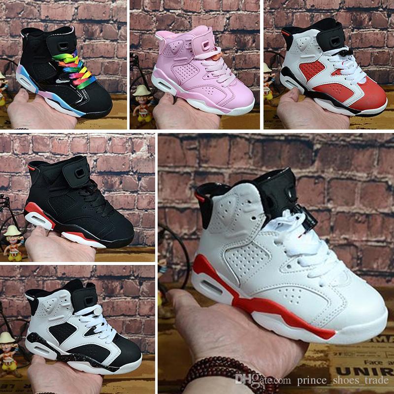 1f149225 Compre Nike Air Max Jordan 6 Al Por Mayor Nuevo Descuento Niños 6 Zapatos  De Baloncesto Del Bebé Unc Oro Negro Rojo Niño 6s Niños Zapatillas De  Deporte De ...