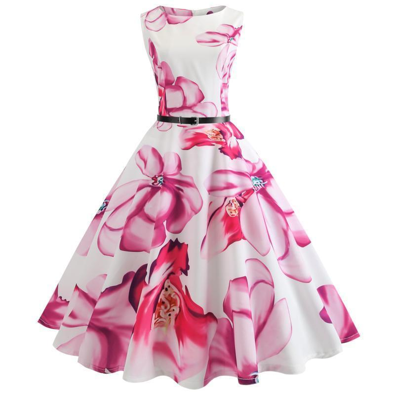 c4d09a112d 2019 Summer Dresses Floral Print Children Girls Clothing Vestidos ...