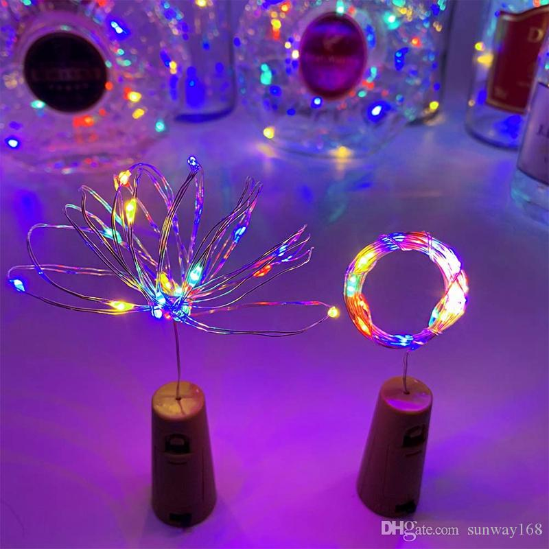 20 LED Wine Bottle Cork Lights Mini Fairy String Lights Copper Wire, Battery Operated Starry Lights for DIY, Festival, Wedding, Party