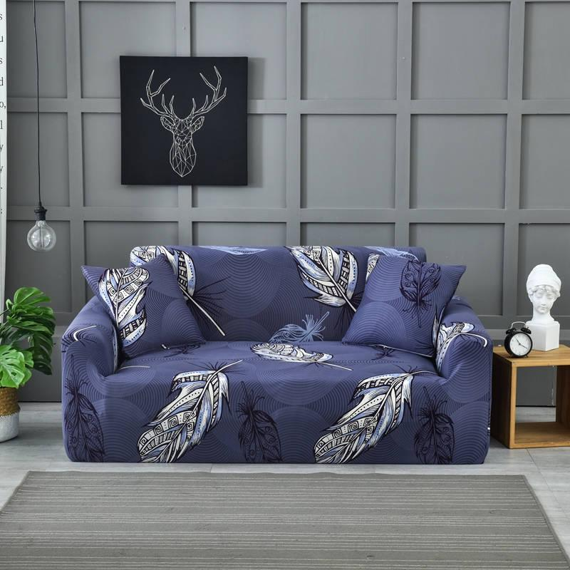 Beautiful blue color sofa cover elastic Multi-person combination couch corner sofa cover of Home Furniture Protector