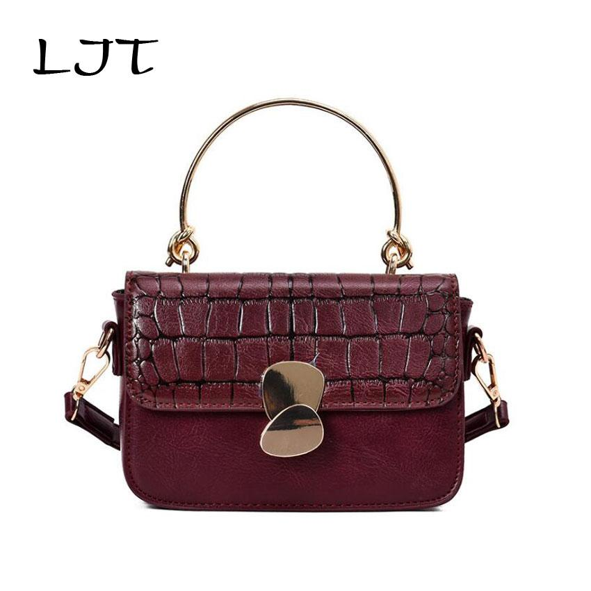 LJT Vintage Handbags Women Bags Female Causal Tote Crocodile Pattern ... 11a2c43ad6f66