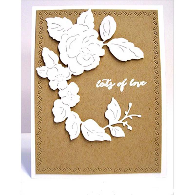Blossoming Flower Cutting Metal Dies Stencils for DIY Scrapbooking Paper Craft Supplies Embossing Decorative Cards New 2018