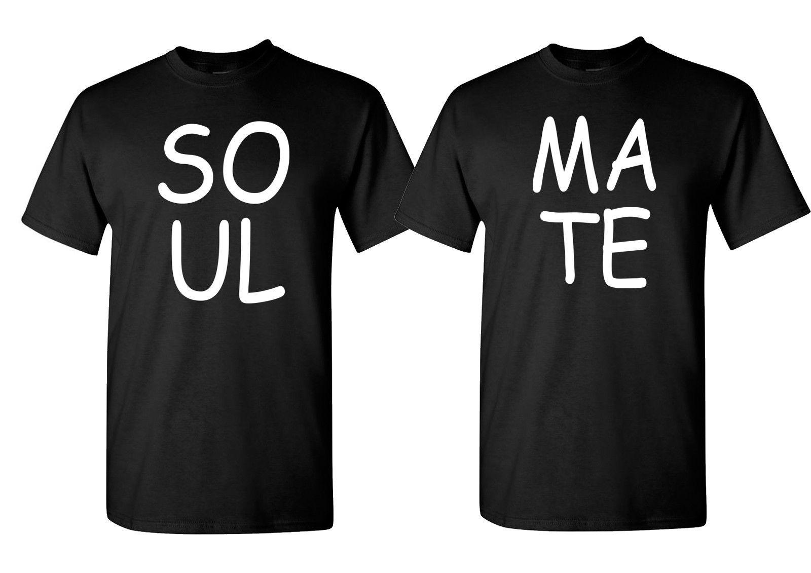 Couple Matching T Shirt Soul Mate Set ValentineS Day Tee Birthday Funny Unisex Casual Online Shopping Print On From Rocktothetop