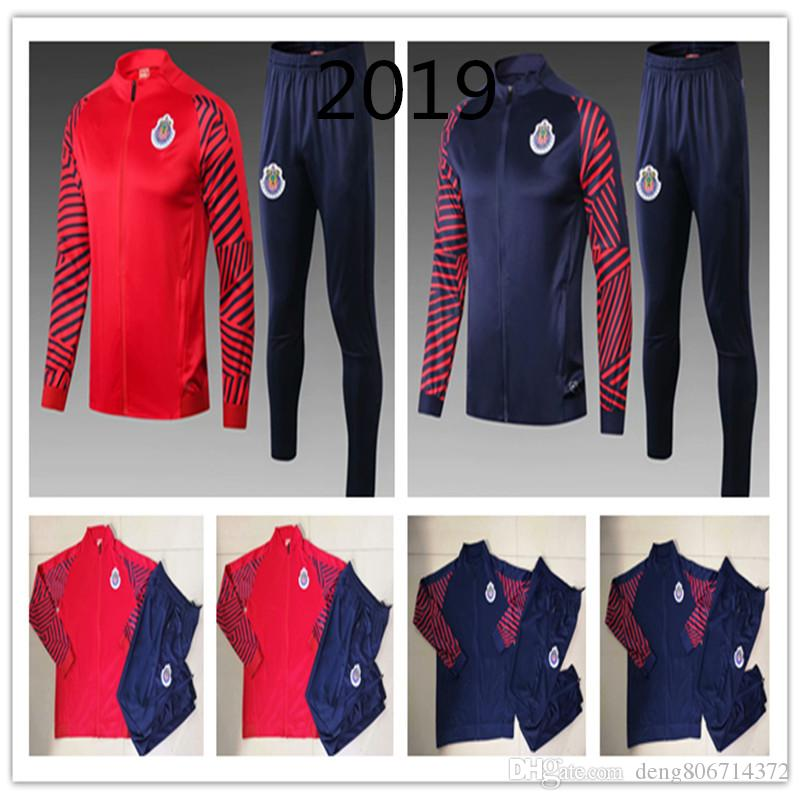 official photos 8581b 0b565 Survetement Liga MX Chivas de Guadalajara Jacket Kit 2018 2019 Training  Suit Adult Men Sets 19/20 Long Sleeve Tracksuit Football Shirts