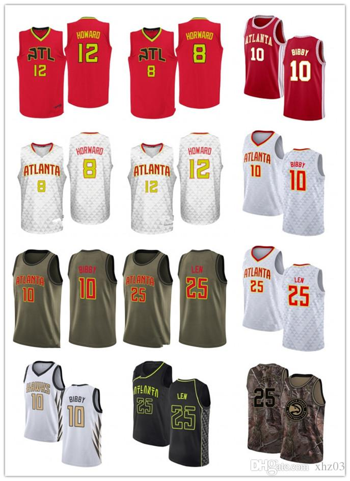 Custom Men s Women s Youth Hawks 8 Dwight Howard 12 Dwight Howard 25 Alex  Len 10 Mike Bibby Swingman Basketball Jerseys
