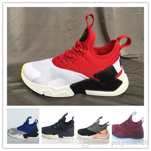 f49b0a417716 2018 New Children Air Huarache IV 4.0 Ultra Running Shoes Huraches Boys  Girls Youths Shoes Baby Kids Triple Huaraches Sneakers Athletic Shoes For  Kids ...