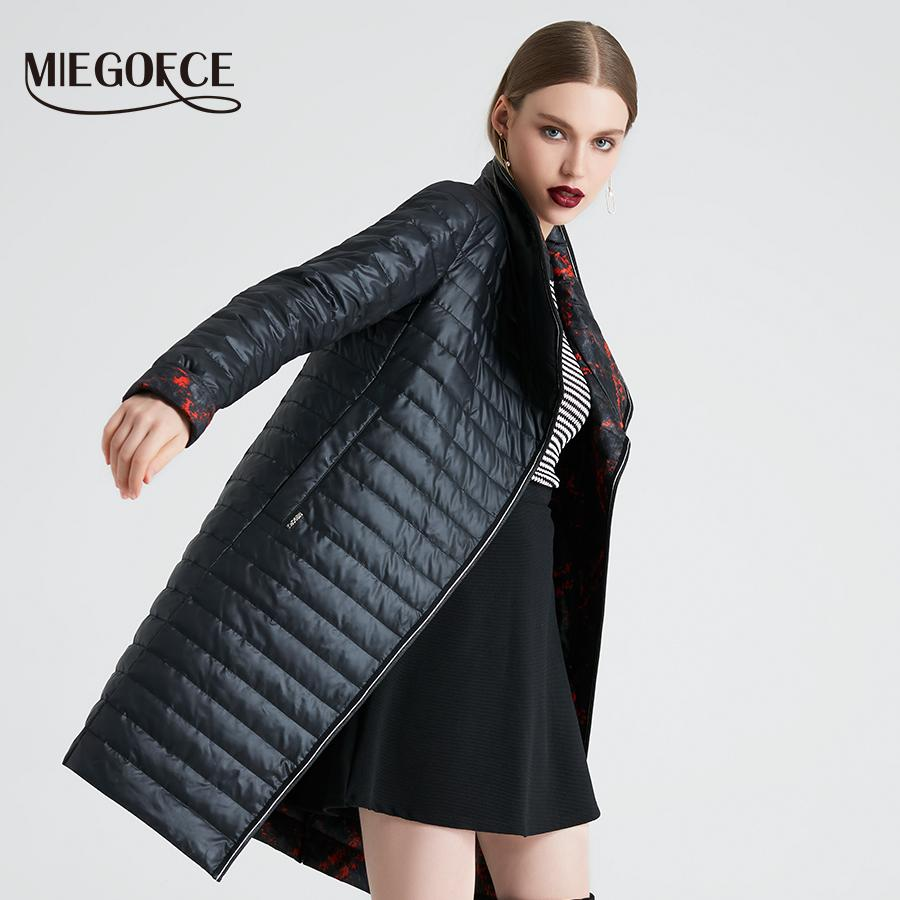 MIEGOFCE 2019 Spring And Autumn Women s Coat High Quality With Scarf ... 4d761eddfd17