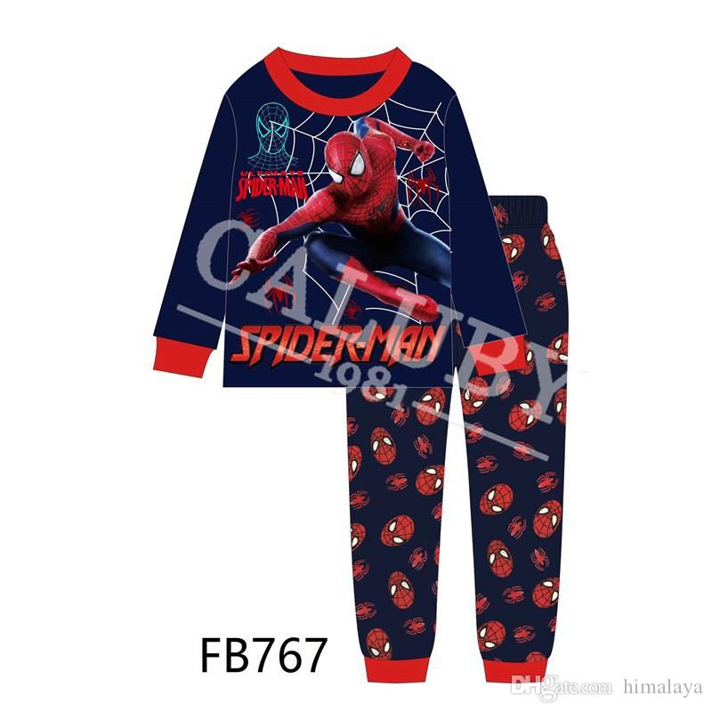 bb79fcdb2 Wholesale Boys Spiderman Fortnite Pajamas Sets 2019 Kids Cartoon ...