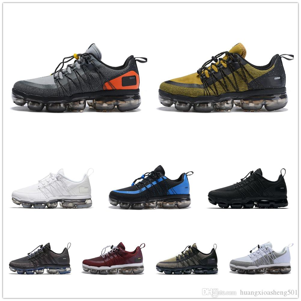 Air Vm Run Utility Running Shoes For Men Triple Black Medium Olive