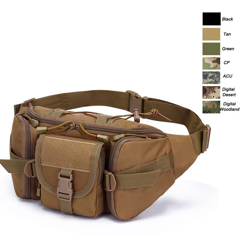 Oudoor Sports Bag Tactical Pack Assault Combat Pack Camouflage Waistpack Tactical Camo Molle Waist Bag NO11-407