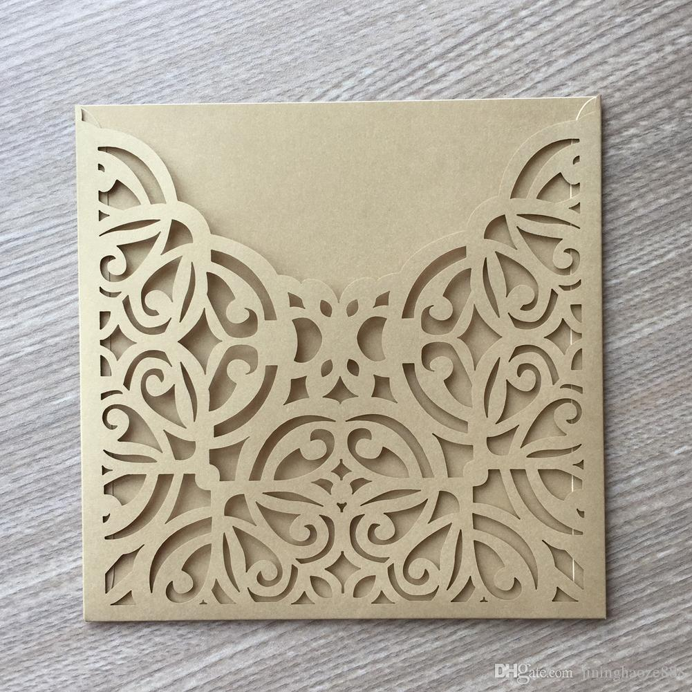 25PCS/LOT Wedding Invitation Card Engagement Invitations Birthday Carnival Party Fancy Dress Decoration With Hollow Laser Cut Nice