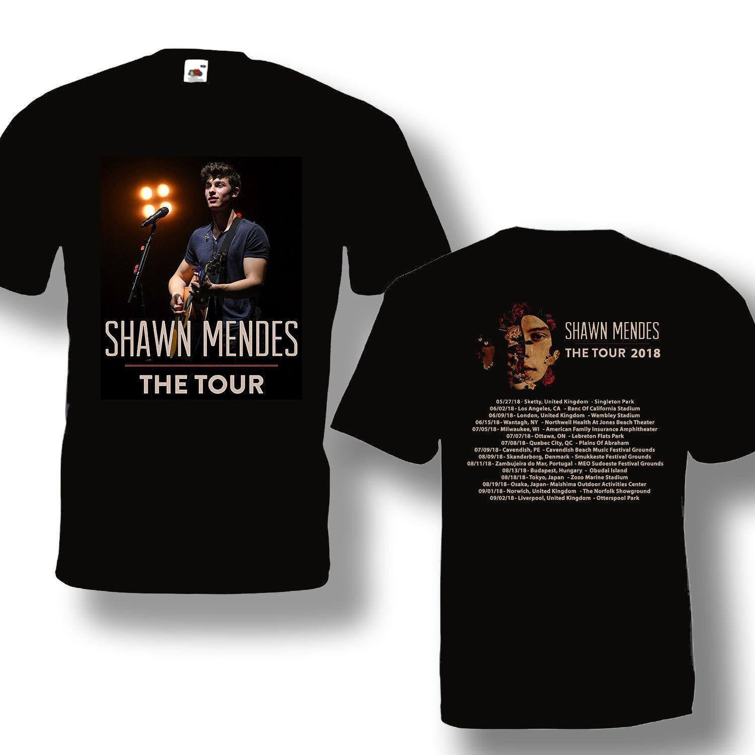 edde7c06 17 Shawn Mendes Tour 2018 Tshirt With Tour Date Black T Shirt Size S To 5XL  2018 New Tee Print Men T Shirt Tops The Who T Shirts Online Tshirt Shopping  From ...