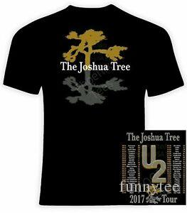 New U2 The Joshua Tree 2017 Tour T-shirt Size S-5XL tee