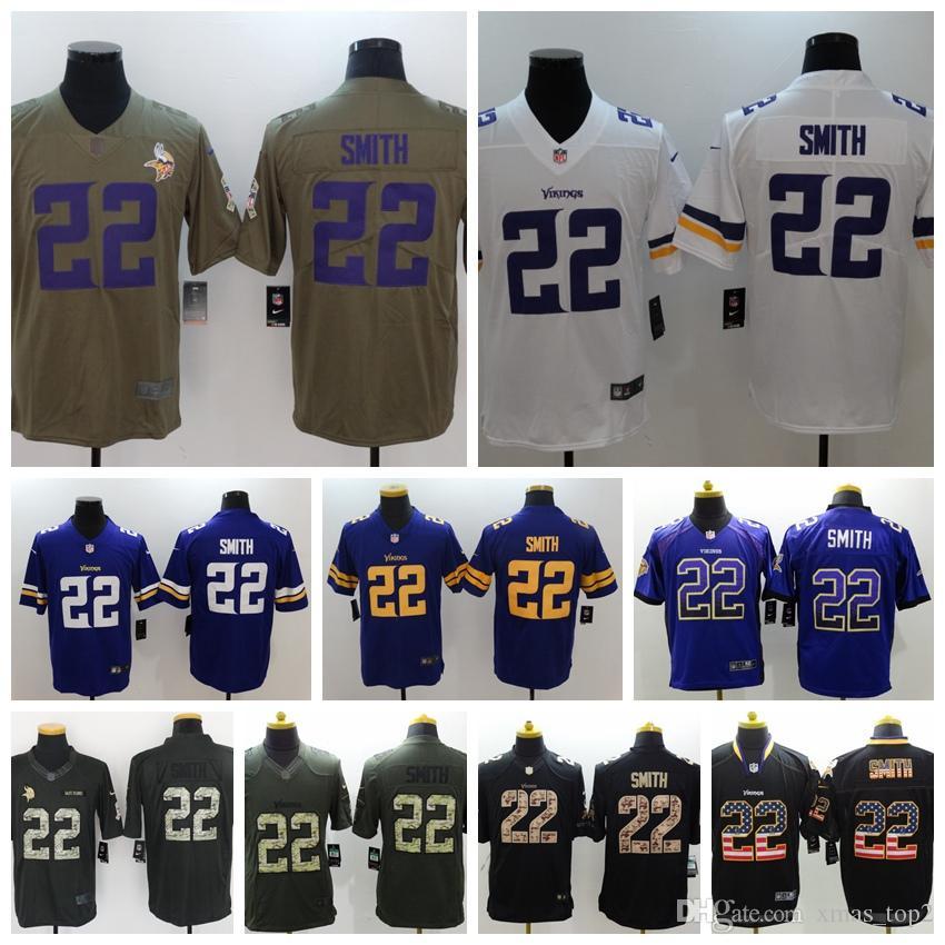 various colors fb6c6 70de6 2019 Mens 22 Harrison Smith Minnesota Jersey Vikings Football Jersey  Stitched Vikings Harrison Smith 22 Color Rush Football Shirts