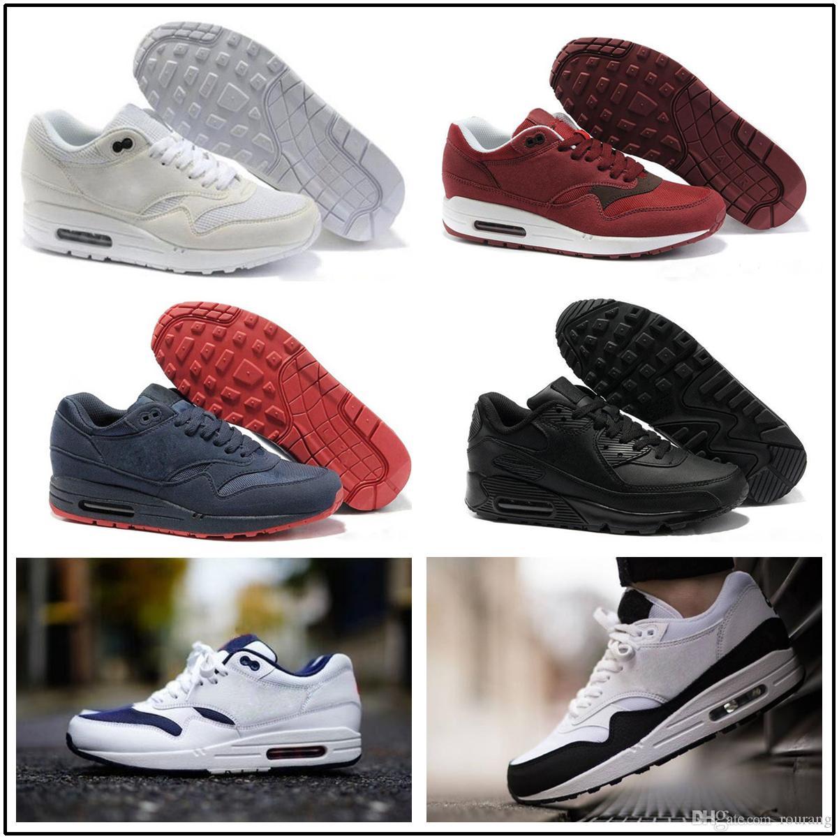buy online 0996c f214a Compre Nike Air Max Airmax 87 90 Nuevo Envío Gratuito Famous 87 90 Ultra 1  Elephant Black Clear Jade White Para Mujer Para Hombre Zapatillas De  Deporte ...