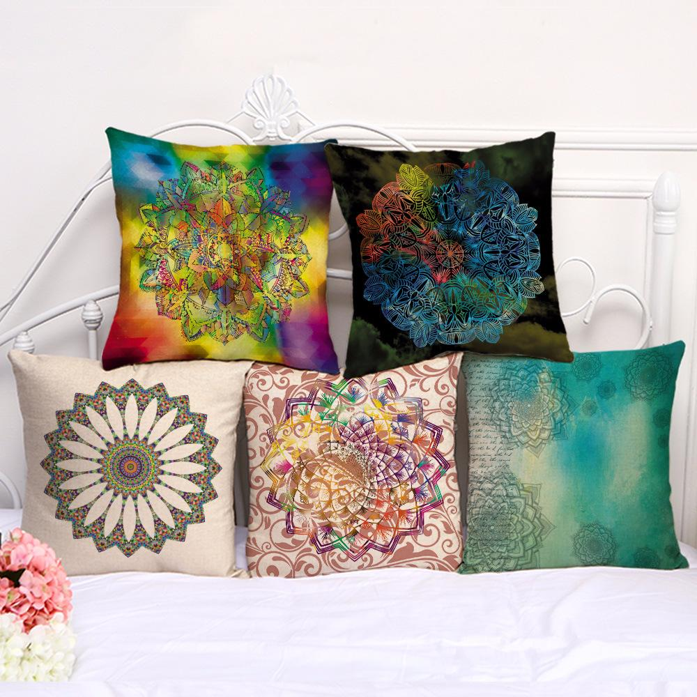Großhandel Kissenbezüge Baumwolle Kissen Sofa Kleine Frische Runde