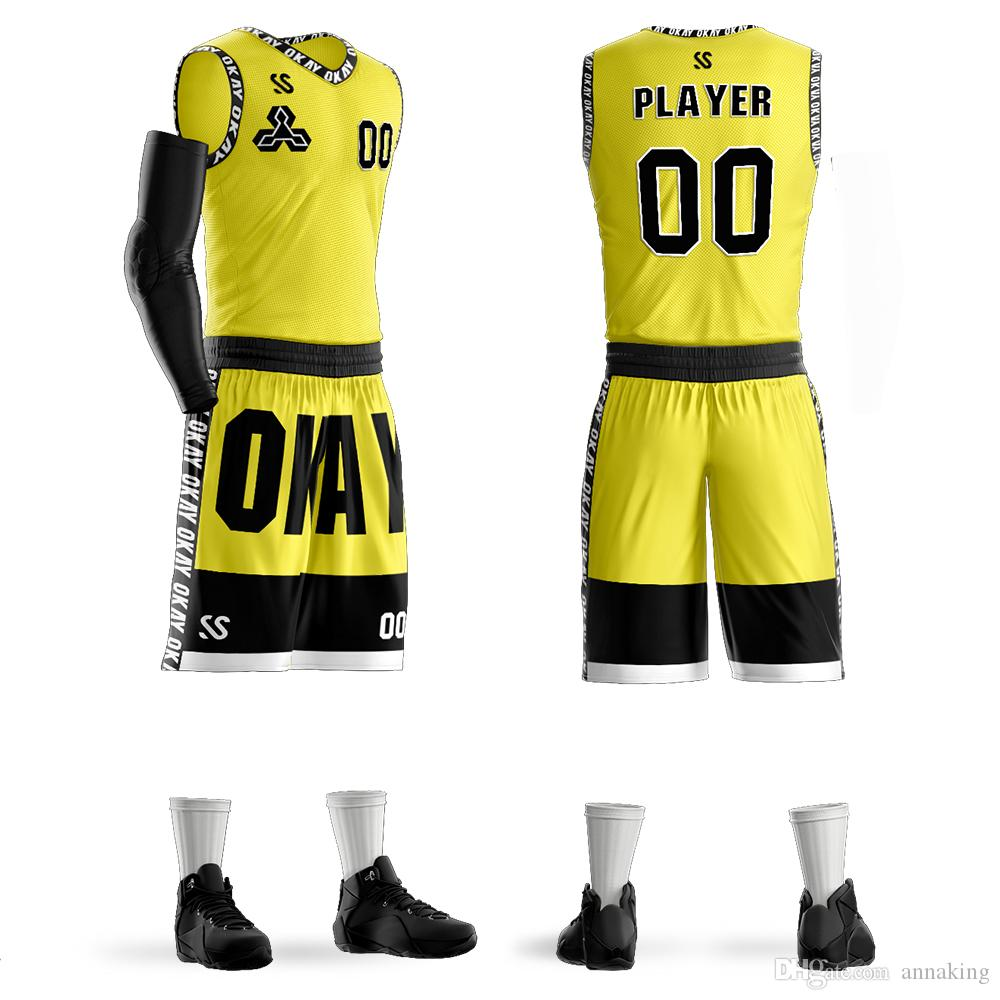 20f4ca5d110 2019 Custom Men Youth Basketball Jerseys Sets Uniforms Sports Kit Clothing  Shirts Shorts Suits Side Pockets Team Customized Print From Annaking