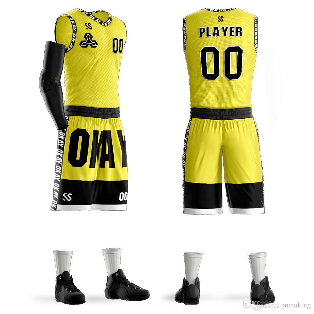 565f4e4ccf6c0 Compre Homens Personalizados Juventude Basquete Conjuntos Uniformes Sports  Kit Roupas Camisas Shorts Ternos Bolsos Laterais Equipe De Impressão ...