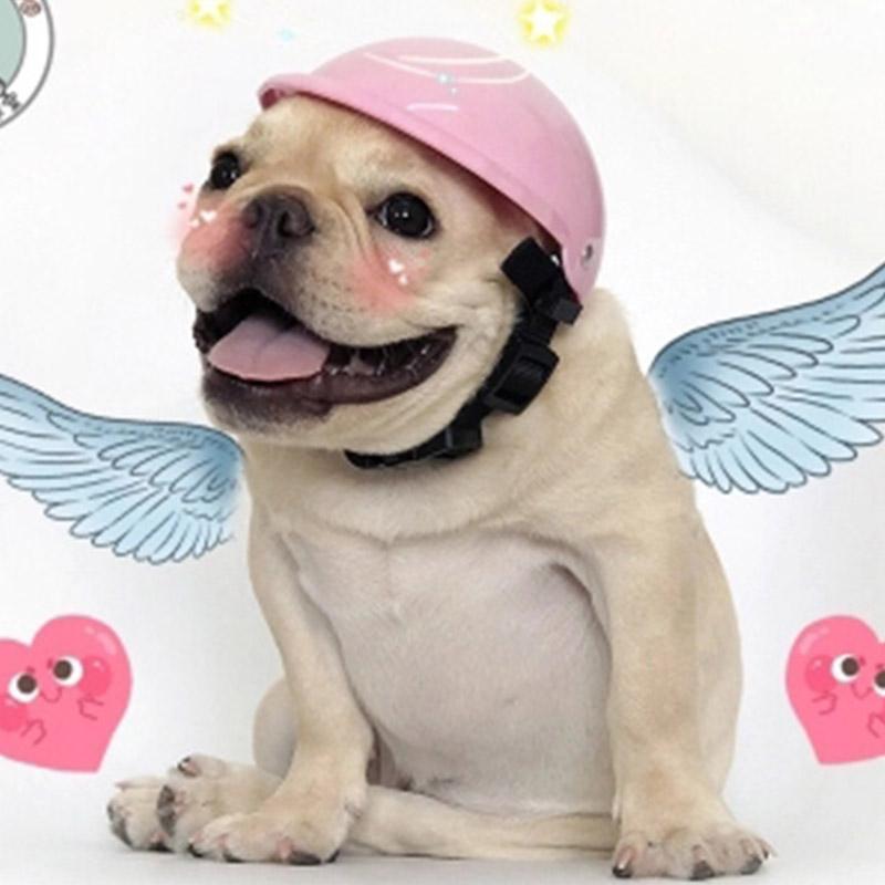 Compre Casquillo Del Perro Casco Divertido De La Motocicleta Del Perro  Sombrero Del Animal Doméstico Sombrero Pequeño Mediano De Los Perros  Accesorios Para ... 445425cff10