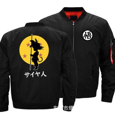 Dropshipping Men Women USA Size Unisex Jacket Goku Printed Flight Jacket  Custom Design Printed Bomber