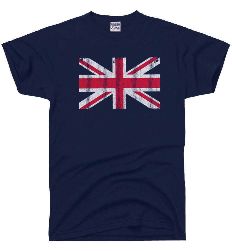 bc44a2105 Union Jack Vintage UK Flag T SHIRT British United Kingdom ENGLAND Great Britain  Funny Unisex Tshirt Top Mens Dress Shirt Patriotic T Shirts From ...