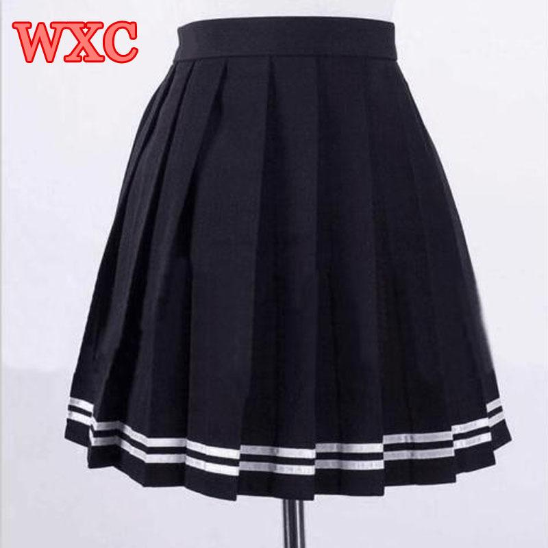 0c712ea091 2019 Japanese High Waist Pleated Skirts Anime Cosplay School Uniform ...