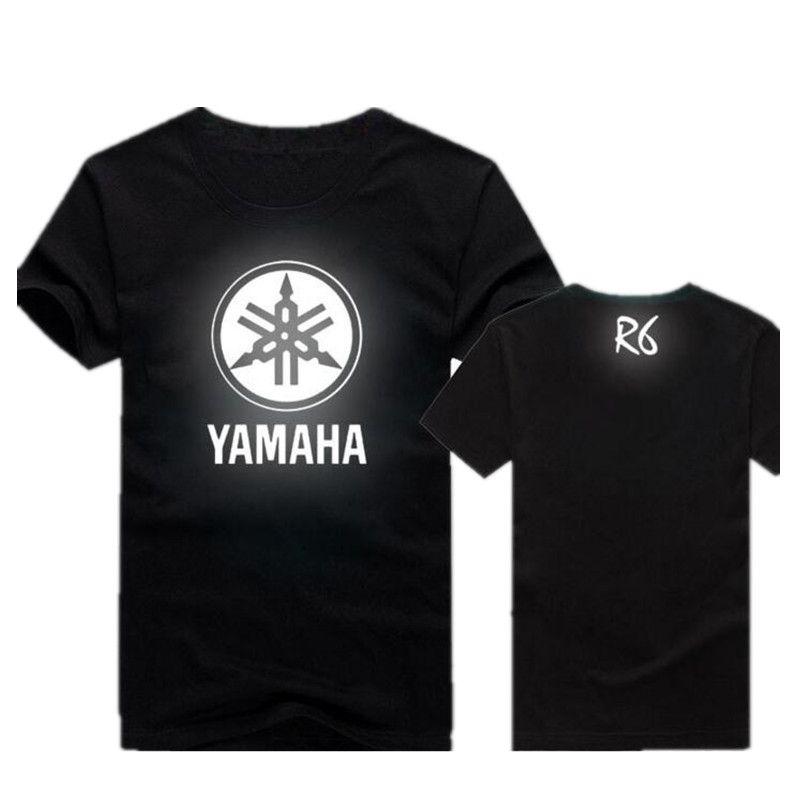 9a6e49053c5 Summer Wholesale Men YAMAHA Luminous Reflective Motorsport Team Logo ...