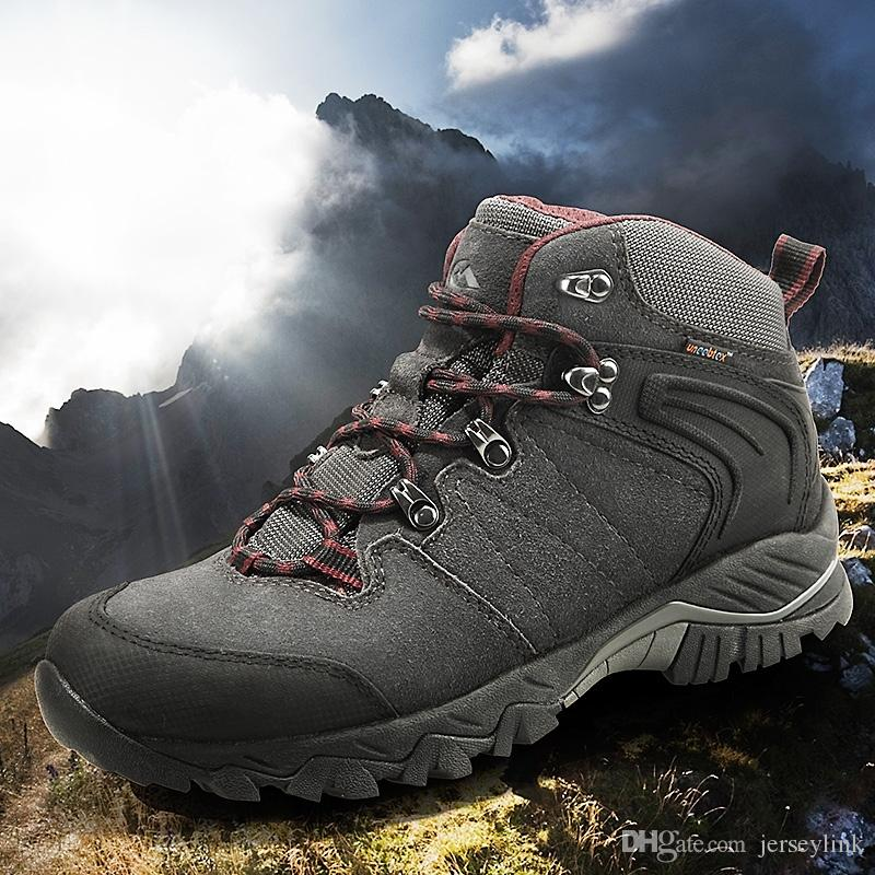 adaaff52994 Clorts Hiking Boots Outdoor Climbing Boots Waterproof Cow Suede Hunting  Non-slip Sports Sneakers Hiking Shoes HKM-822A/G #5135