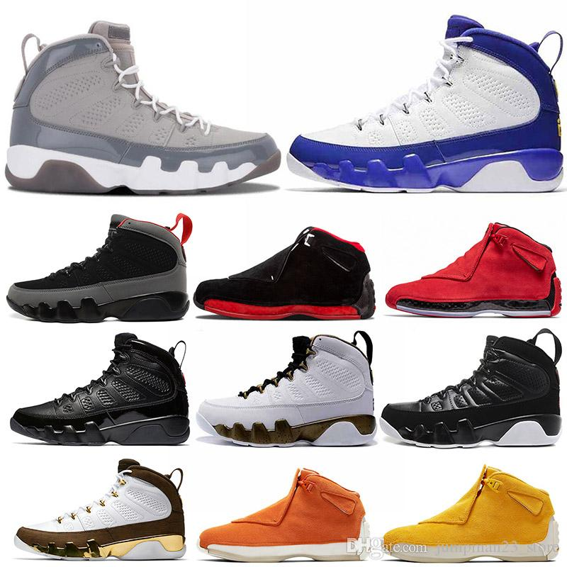 909c6491e6c73f 2019 New 9s 18s Men Basketball Shoes Cool Grey Kobe Bryant Pe OG Space Jam  18 Toro Bred Defining Moments Bred Sport Fashion Sneakers From  Jumpman23 store