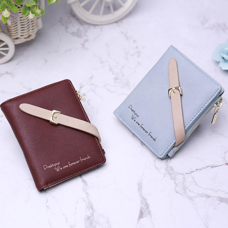 Desk Accessories & Organizer Pu Leather Card Holder Business Credit Card Case Cute Bank Card Bag Korea Portable Zipper Wallet Card Organizer Office Supplies To Ensure A Like-New Appearance Indefinably