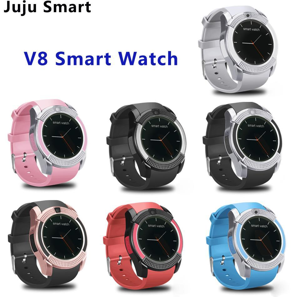 V8 Smart Watch Wristband Watch Band With 0.3M Camera NFC SIM IPS HD Display Smart Watch For Android System With Box