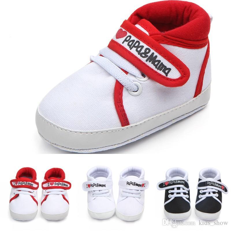 Encanta Carta Suave Para De Deporte Zapatos Lona Bebé Niñas Papa Zapatillas Antideslizante Pequeños Me Mama Parte Inferior Niños BoQrstChdx