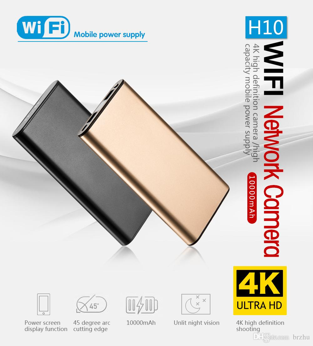 2MP 1080P 10000mha Power Bank wifi network IP Camera 4k Ultra HD Night  Vision Wireless home security camcoeder