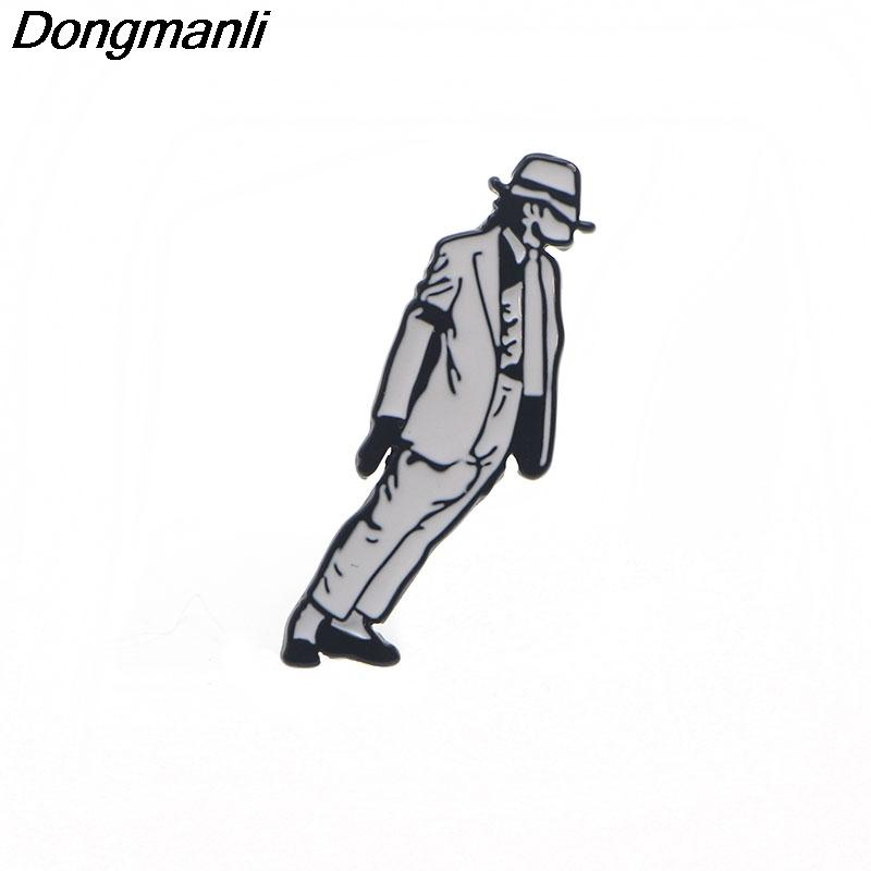 P3410 Dongmanli Michael Jackson Metal Enamel Pins and Brooches for Women  Men Lapel Pin Backpack Bags Badge Gifts