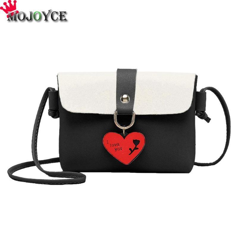 deaaef32aed3 Designer Women Hit Color Sling Messenger Bag Love Heart PU Leather Girls  Shoulder Satchel Bags Crossbody Bags For Women Leather Bags Designer Purses  From ...