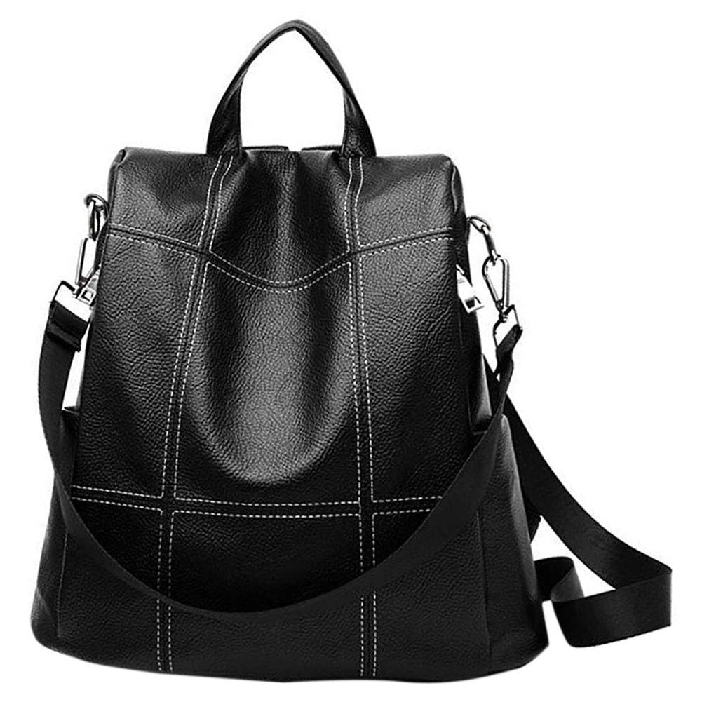 45b21233b1a Charm2019 Women Backpack Purse Waterproof Pu Leather Anti-Theft Rucksack  School Shoulder Bag