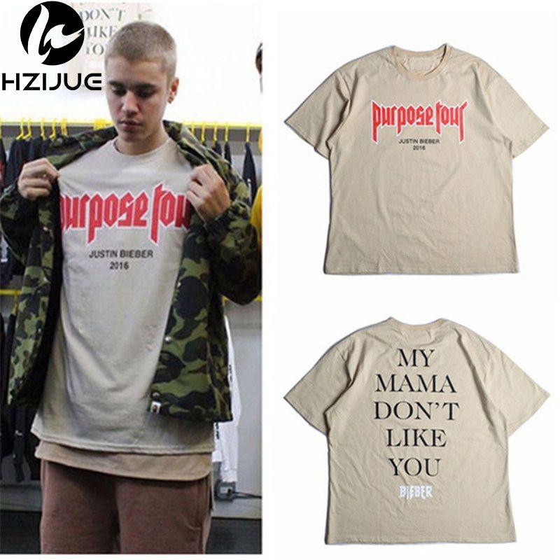 51f7b34b0506 Men T Shirt Justin Bieber Purpose Tour Fashion Hip Hop Short Sleeve T Shirt  Homme My Mama Dont Like You Letter Printed Tops Tee C19011001 T Shirts Buy  ...