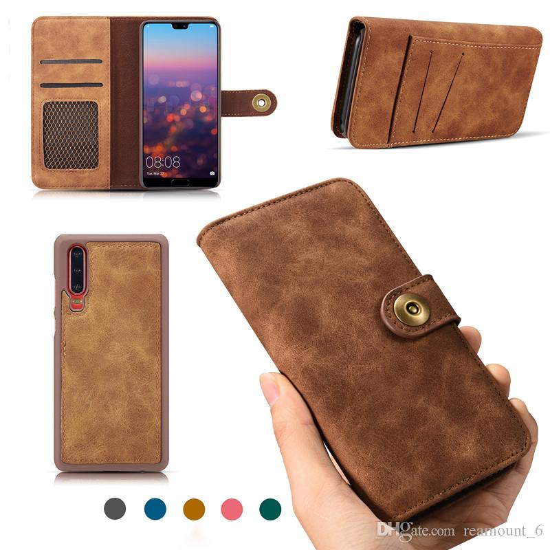 For Huawei Mate 20 Mate 20 Pro P20 Phone Cover 2 in 1 PU Leather Wallet Case Flip Phone Case With Card Slot