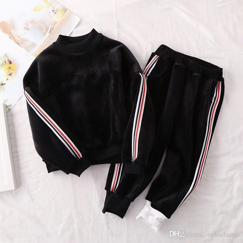 c6bddbcb78d0 666 Baby Boys Girls Track Suit Kids Brand Tracksuits Kids Coat Pant ...