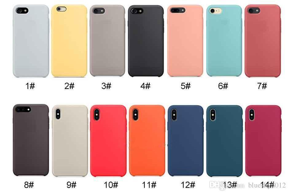 dc855eae Tiene LOGO Fundas de silicona originales para iPhone 6 7 8 Plus Funda  oficial de silicona para iPhone X XR XS Max con paquete minorista 2019  Nueva ...
