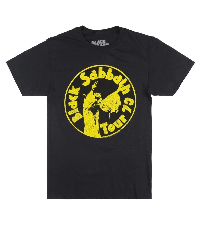 48753322c011 BLACK SABBATH 1973 TOUR T SHIRT BLACK MENS ROCK METAL MUSIC OZZY TEE  BRAVADO 2018 Fashion Short Sleeve Black T Shirt Ringer T Shirts Political T  Shirts From ...
