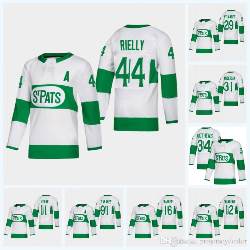 8f3320610 2019 2019 Toronto Maple Leafs Third Jersey 44 Morgan Rielly 31 Frederik  Andersen 91 Tavares 16 Mitchell Marner 34 Matthews 28 Connor Brown From ...