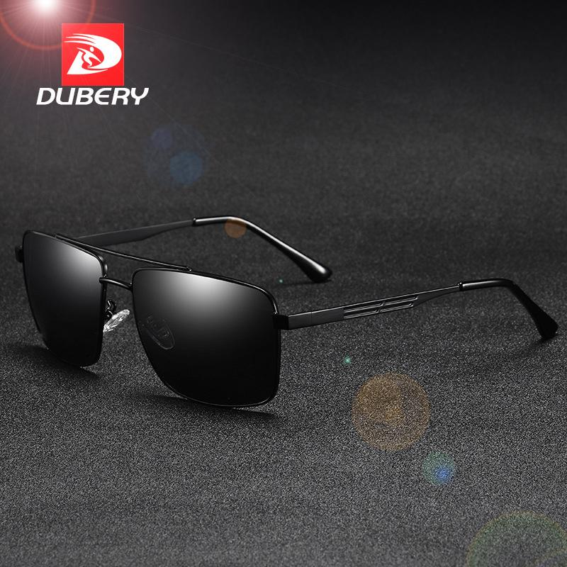 633f0b36f3f DUBERY Unisex Square Polarized Sun Glasses Men Women Mirror UV400 ...
